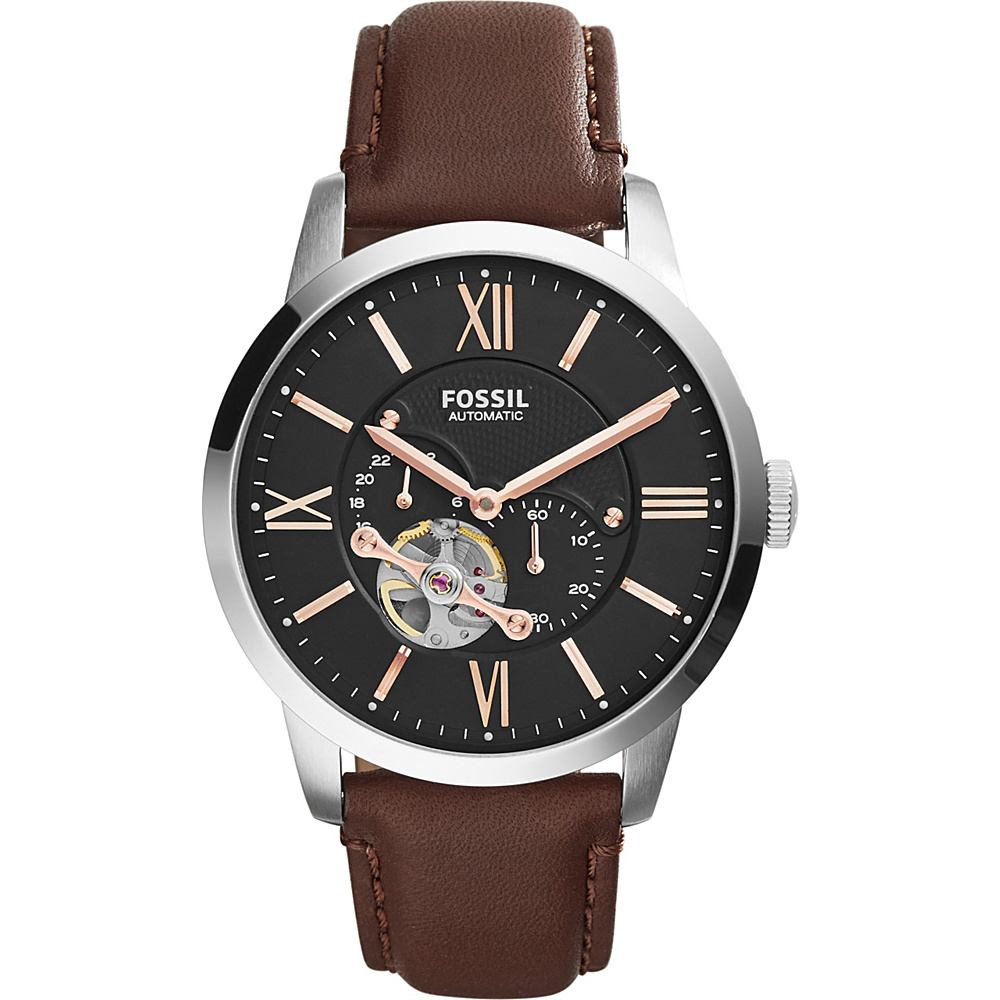 Fossil Townsman Automatic Leather Watch Brown/Black - Fossil Watches - Fashion Accessories, Watches