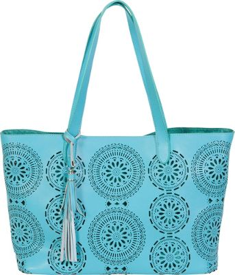 BUCO Terry Tote Aqua - BUCO Leather Handbags