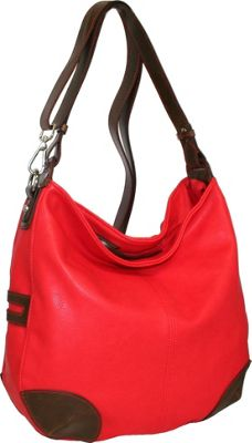 Punto Uno Hannah's Big Hobo Red - Punto Uno Manmade Handbags