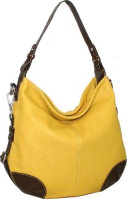 Punto Uno Hannah's Big Hobo Mustard - Punto Uno Manmade Handbags