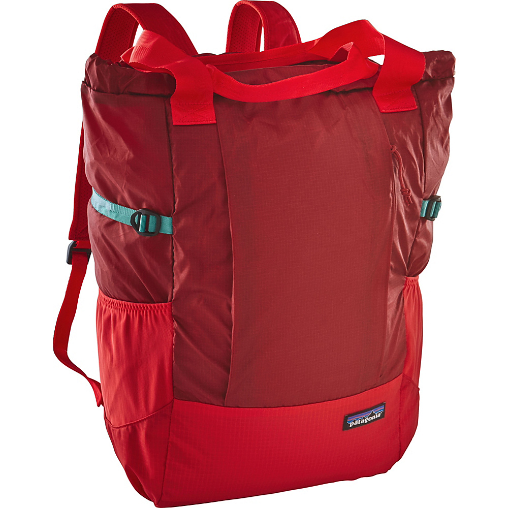 Patagonia Lightweight Travel Tote Pack Drumfire Red - Patagonia Travel Backpacks
