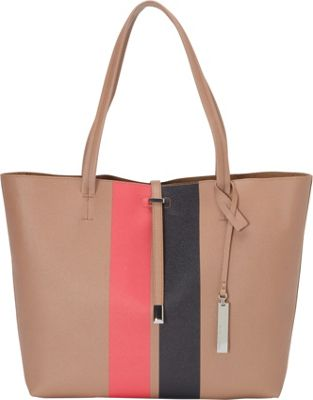Vince Camuto Lanie Tote Striped Oak - Vince Camuto Designer Handbags