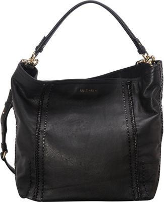 Cole Haan Nickson Double Strap Hobo Black - Cole Haan Designer Handbags