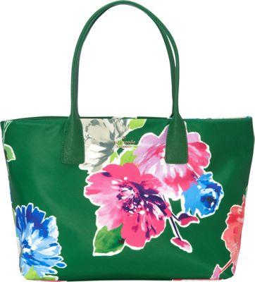 kate spade new york Classic Nylon Catie Shoulder Bag Lucky Green Multi - kate spade new york Designer Handbags