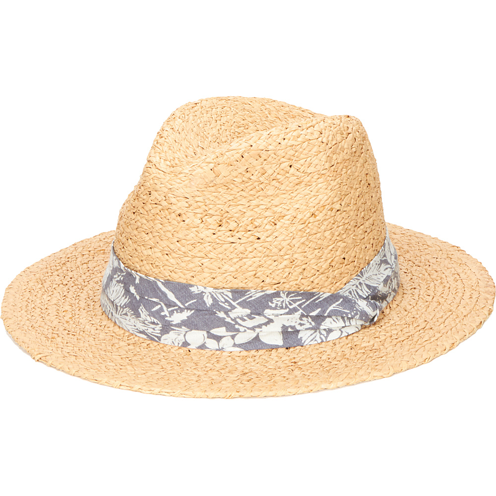 San Diego Hat Straw Panama Fedora with Palm Leaf Band Natural San Diego Hat Hats Gloves Scarves