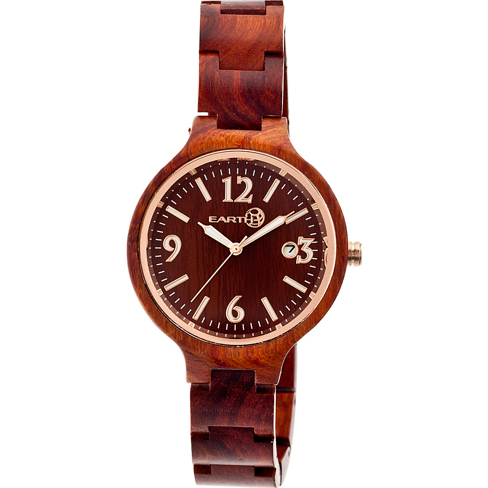 Earth Wood Nodal Watch Red Rosewood Earth Wood Watches