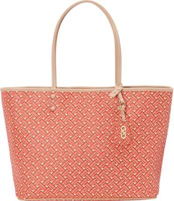 Cole Haan Signature Weave Tote Coral Flame - Cole Haan Designer Handbags