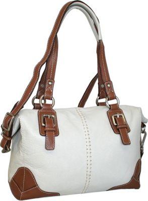 Nino Bossi Soho Satchel Bone - Nino Bossi Leather Handbags