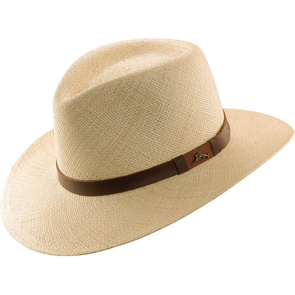 Tommy Bahama Headwear Panama Outback Hat with Leather Trim XXL - Natural - Tommy Bahama Headwear Hats/Gloves/Scarves Panama Outback Hat with Leather Trim XXL - Natural. Tommy Bahama Panama Outback with Leather Trim