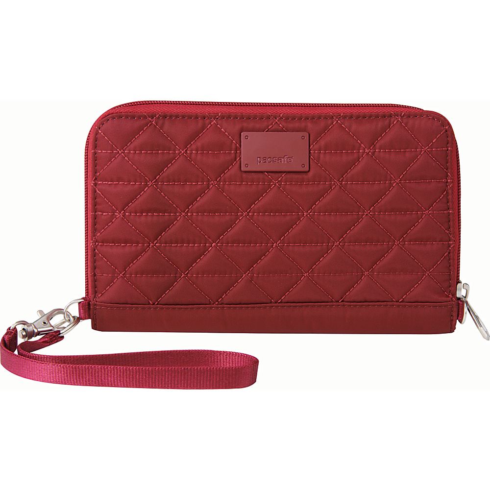 Pacsafe RFIDsafe W200 Cranberry Pacsafe Women s Wallets
