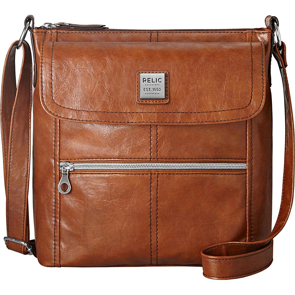Relic Erica Flap Crossbody Cognac Relic Fabric Handbags