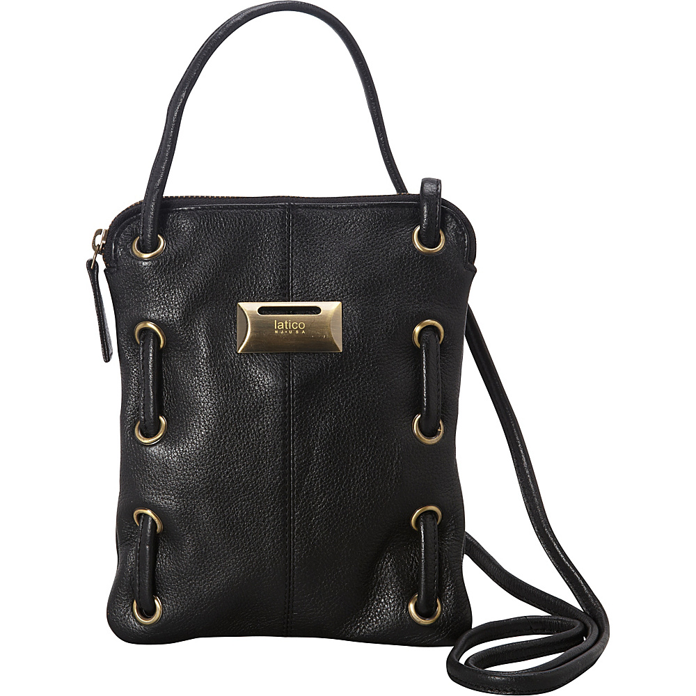 Latico Leathers Berne Crossbody Pebble Black - Latico Leathers Leather Handbags - Handbags, Leather Handbags