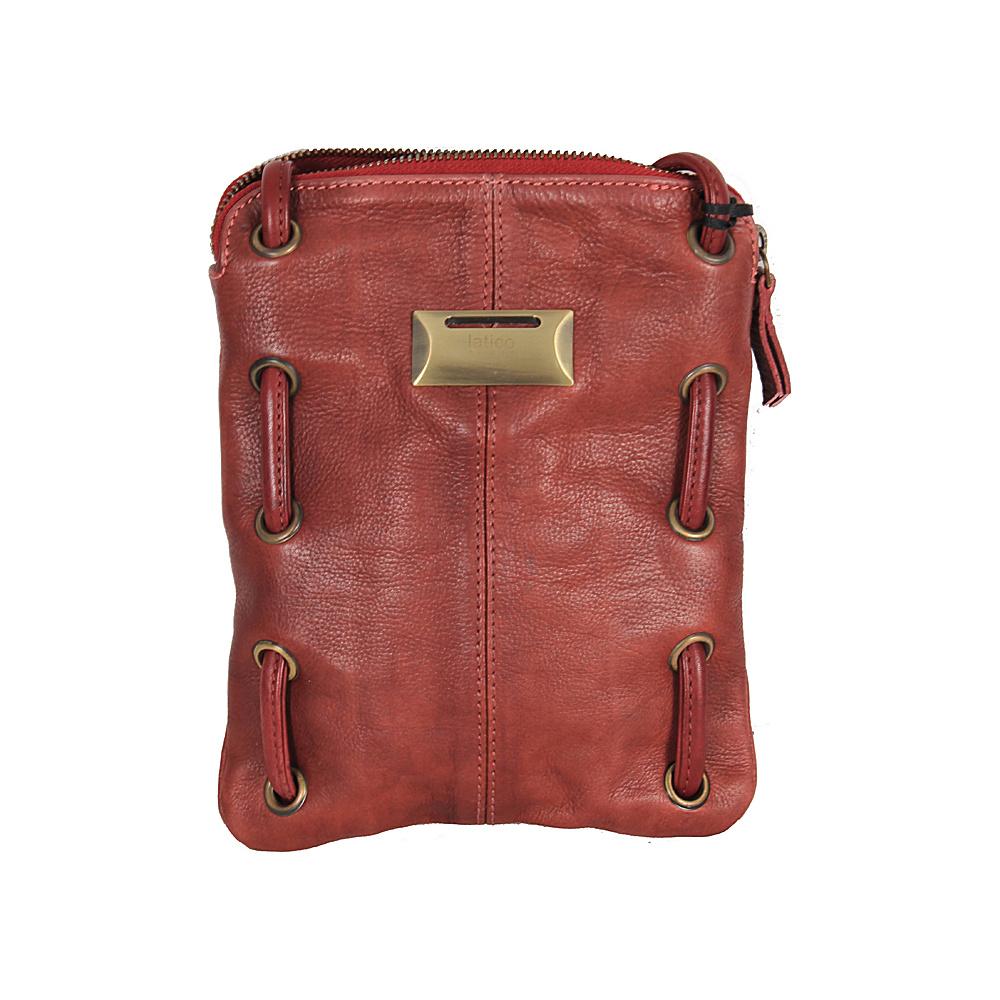 Latico Leathers Berne Crossbody Crinkle Burgundy - Latico Leathers Leather Handbags - Handbags, Leather Handbags