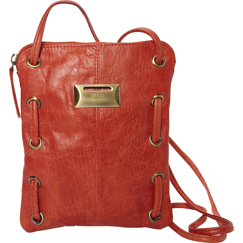Latico Leathers Berne Crossbody Vintage Red - Latico Leathers Leather Handbags - Handbags, Leather Handbags