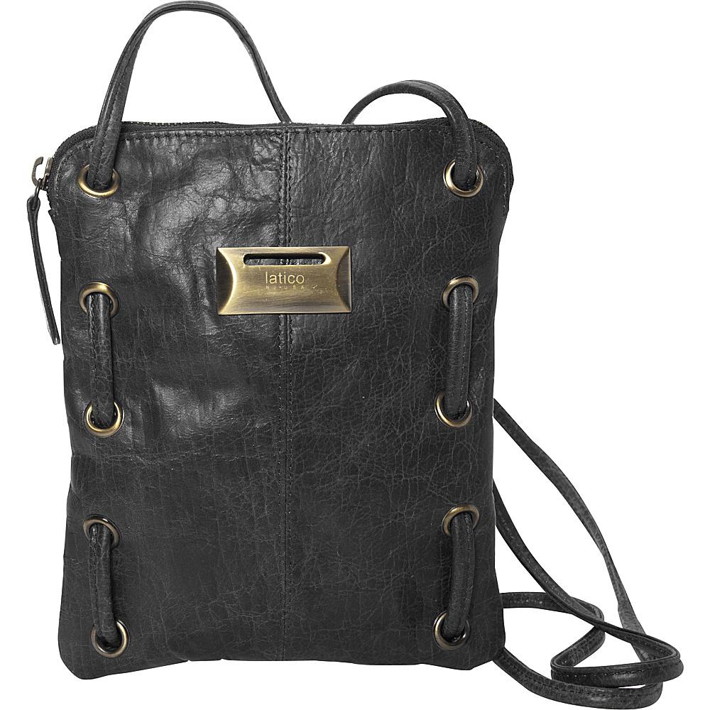 Latico Leathers Berne Crossbody Washed Black - Latico Leathers Leather Handbags - Handbags, Leather Handbags