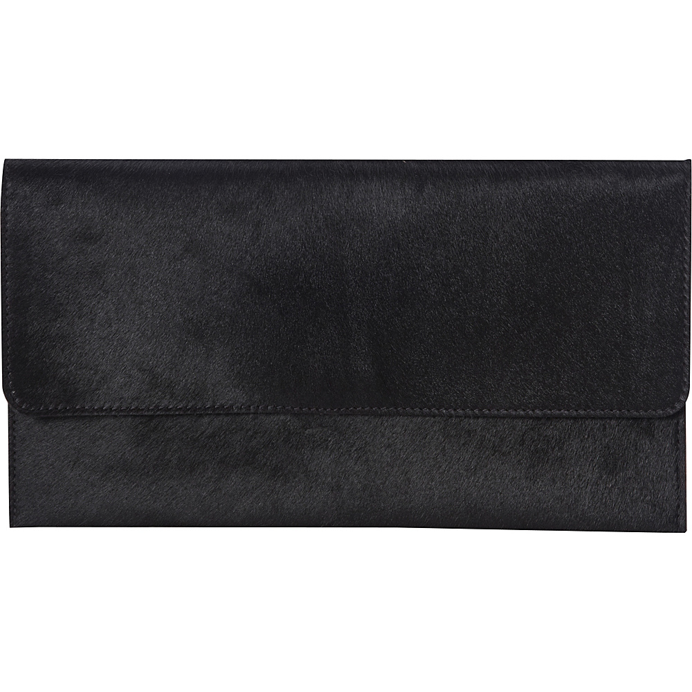Latico Leathers Furbulous Clutch Black on Black - Latico Leathers Leather Handbags - Handbags, Leather Handbags