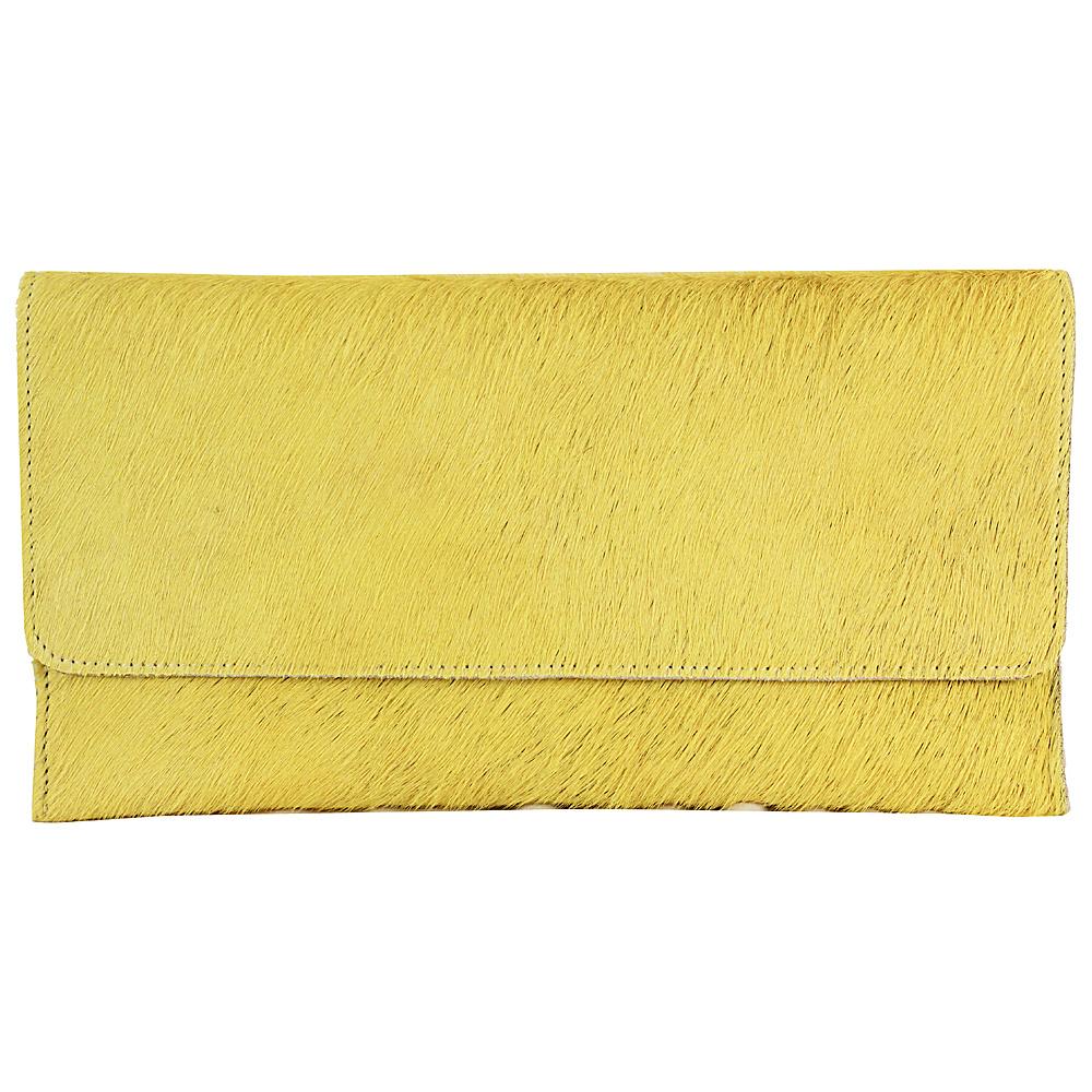 Latico Leathers Furbulous Clutch Yellow - Latico Leathers Leather Handbags - Handbags, Leather Handbags