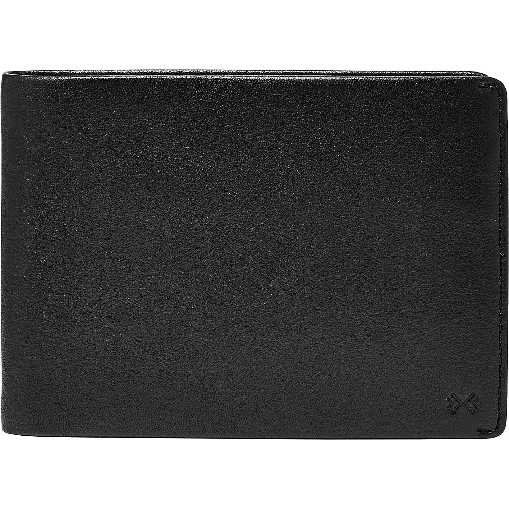 Skagen Joakim Leather Passport Wallet Black Skagen Men s Wallets