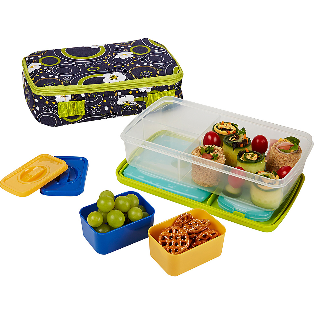 Fit & Fresh Bento Lunch Kit with Insulated Carrier Cherry Dots - Fit & Fresh Travel Coolers