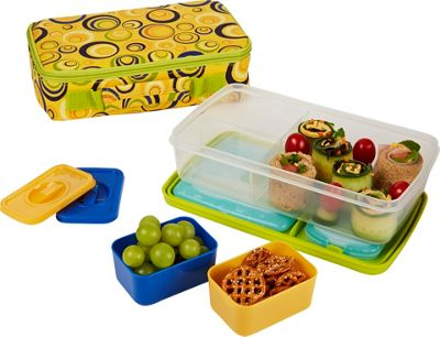Fit & Fresh Bento Lunch Kit with Insulated Carrier Sun Swirls - Fit & Fresh Travel Coolers