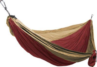 Grand Trunk Double Parachute Nylon Hammock Crimson/Khaki - Grand Trunk Outdoor Accessories