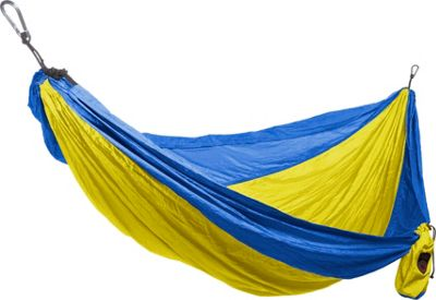 Grand Trunk Double Parachute Nylon Hammock Yellow/Royal - Grand Trunk Outdoor Accessories