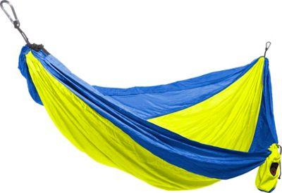 Grand Trunk Double Parachute Nylon Hammock Royal/Neon - Grand Trunk Outdoor Accessories