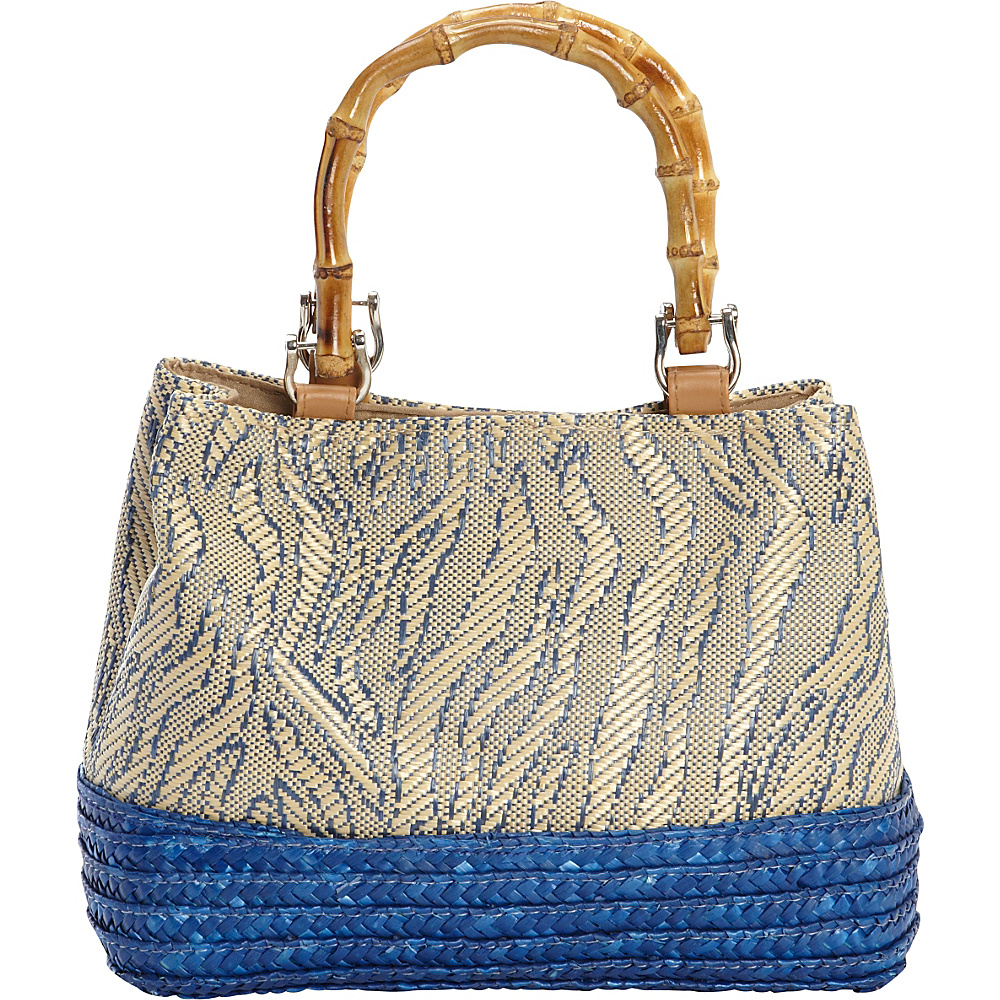 97f4fa756b  27.19 More Details · Magid Mini Bamboo Handle Milan Bag Navy - Magid Straw  Handbags