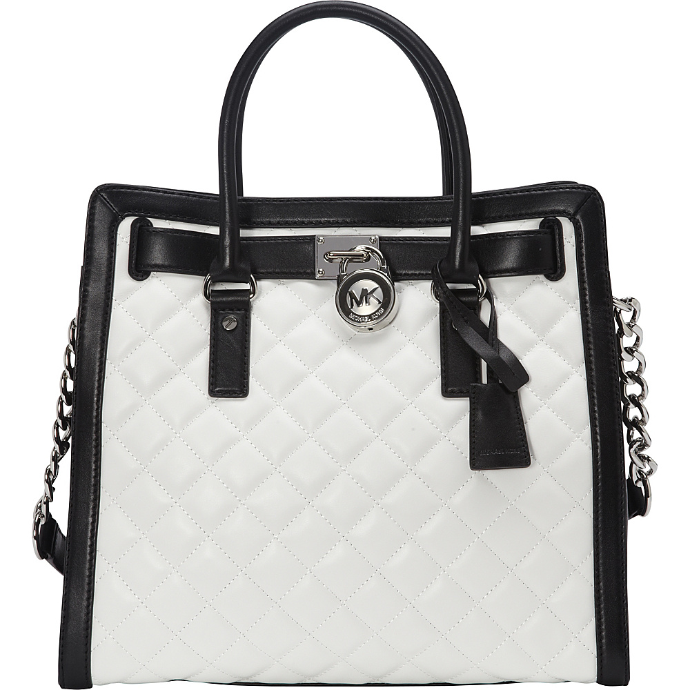 ... UPC 889154030305 product image for MICHAEL Michael Kors Hamilton Quilted  NS Tote Optic White Black 9f89129c1b