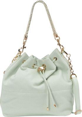 deux lux Downtown Bucket Hobo Mint - deux lux Manmade Handbags