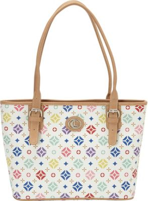 Aurielle-Carryland Starburst Signature Tote White - Aurielle-Carryland Manmade Handbags