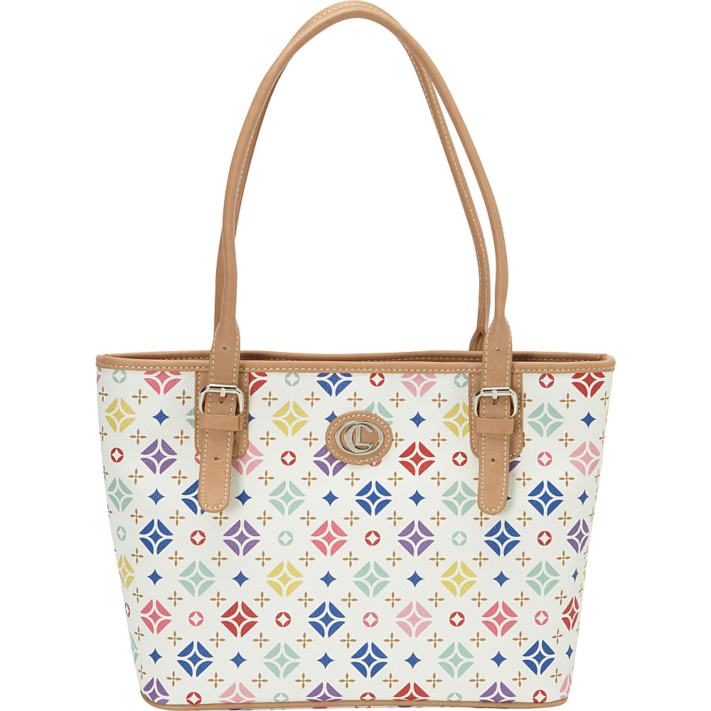 Aurielle Carryland Starburst Signature Tote White Aurielle Carryland Manmade Handbags
