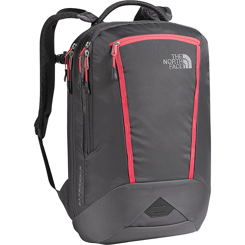 The North Face Womens Microbyte Laptop Backpack Graphite Grey/Cayenne Red - The North Face Business & Laptop Backpacks - Backpacks, Business & Laptop Backpacks
