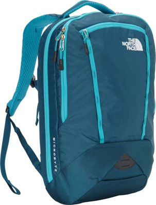 The North Face Women's Microbyte Laptop Backpack Blue Coral/Bluebird - The North Face Business & Laptop Backpacks