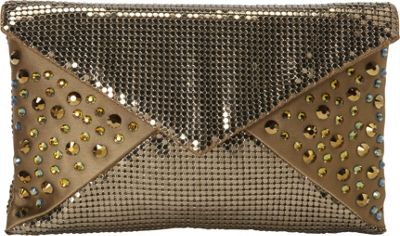 Whiting and Davis Sparkling Envelope Clutch Antique Gold - Whiting and Davis Evening Bags