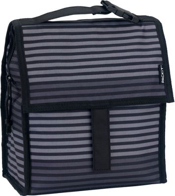 PACKIT Lunch Bag Grey Stripe - PACKIT Travel Coolers