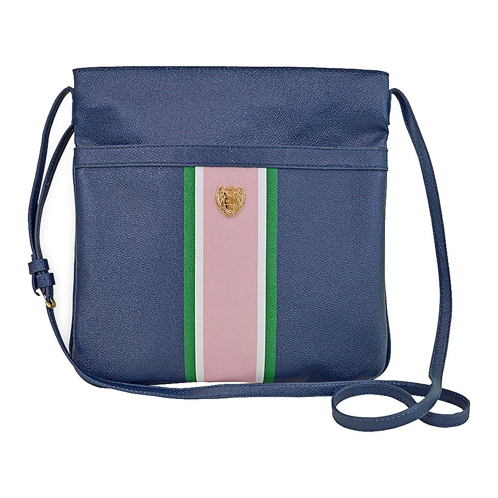 Sloane Ranger Chelsea Crossbody Bag Navy Stripe Sloane Ranger Manmade Handbags