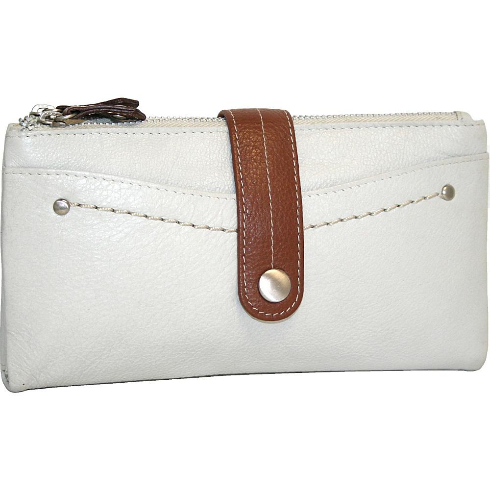 Nino Bossi My Double Zip Wallet Bone Nino Bossi Women s Wallets