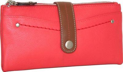 Nino Bossi My Double Zip Wallet Coral - Nino Bossi Women's Wallets