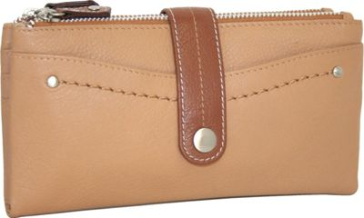 Nino Bossi My Double Zip Wallet Peanut - Nino Bossi Women's Wallets