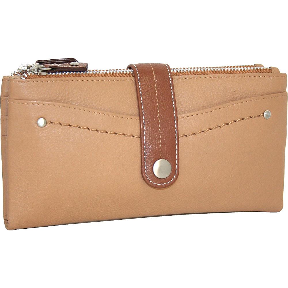 Nino Bossi My Double Zip Wallet Peanut Nino Bossi Women s Wallets
