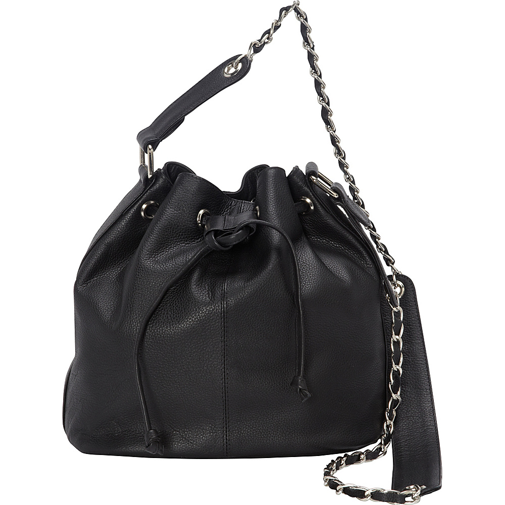 Sharo Leather Bags Soft Leather Bucket Shoulder Bag Black Sharo Leather Bags Leather Handbags
