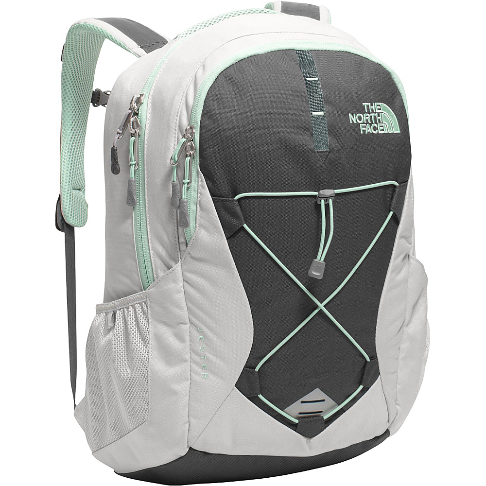 The North Face Women s Jester Laptop Backpack Lunar Ice Grey Subtle Green The North Face Business Laptop Backpacks