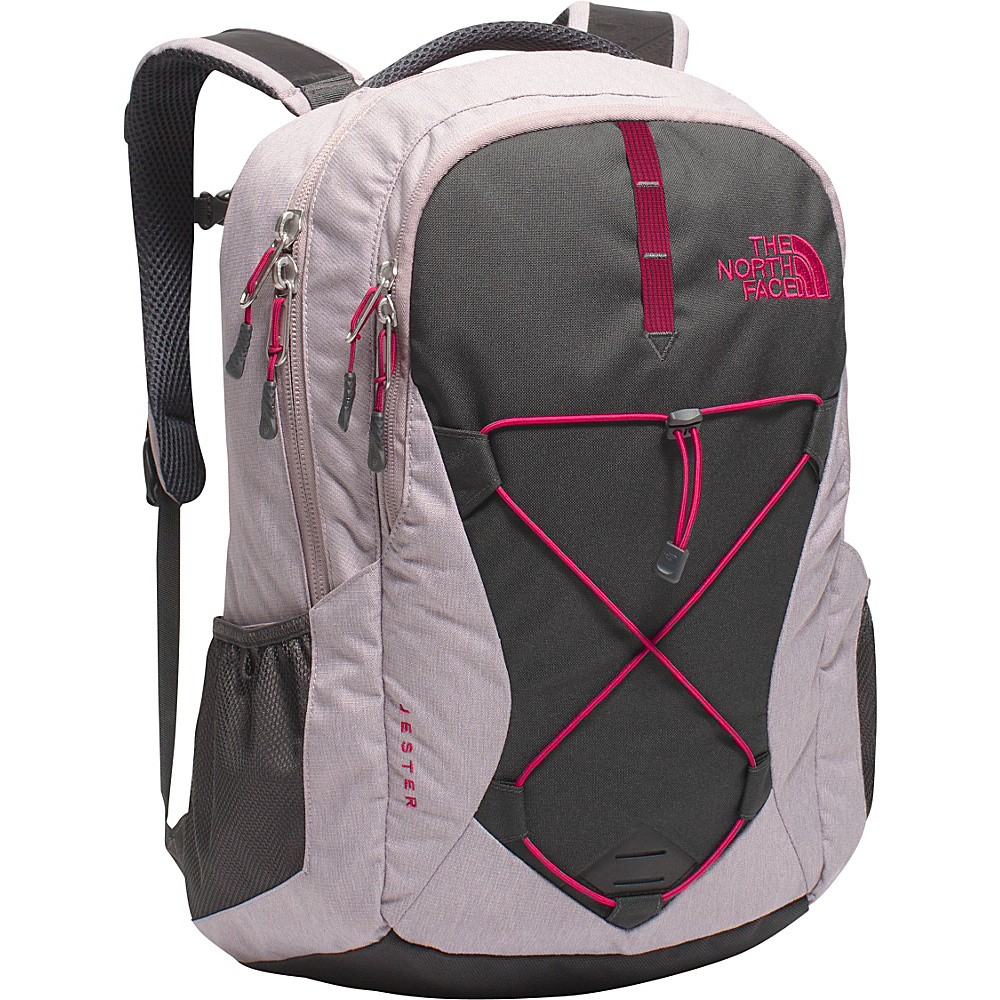 The North Face Women s Jester Laptop Backpack Quail Grey Heather Cerise Pink The North Face Business Laptop Backpacks