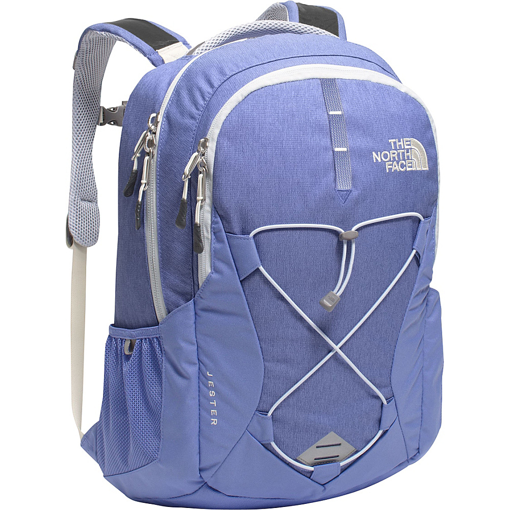 The North Face Women s Jester Laptop Backpack Stellar Blue Heather Arctic Ice Blue The North Face Business Laptop Backpacks