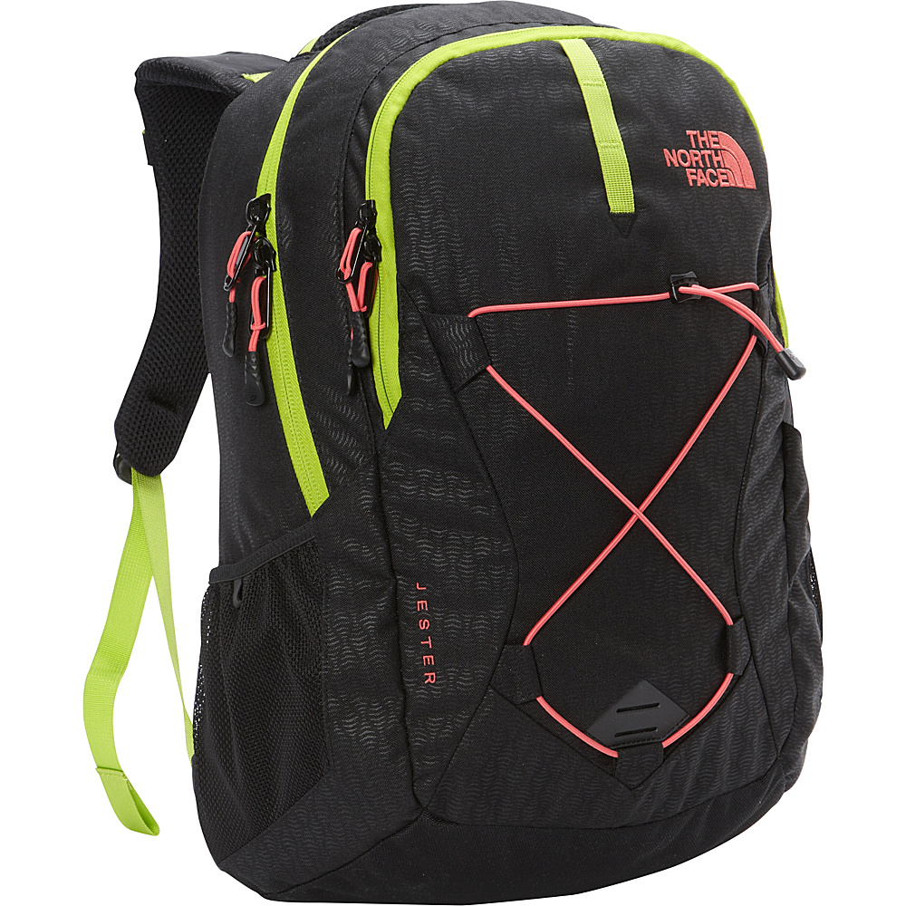 The North Face Women s Jester Laptop Backpack TNF Black Emboss Calypso Coral The North Face Business Laptop Backpacks
