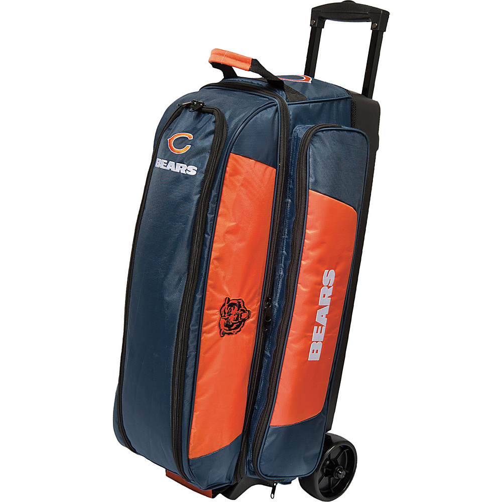 KR Strikeforce Bowling NFL Triple Bowling Ball Roller Bag Chicago Bears KR Strikeforce Bowling Bowling Bags
