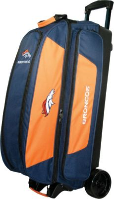 KR Strikeforce Bowling NFL Triple Bowling Ball Roller Bag Denver Broncos - KR Strikeforce Bowling Bowling Bags