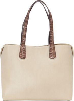 Melie Bianco Gemma Tote Ivory - Melie Bianco Manmade Handbags