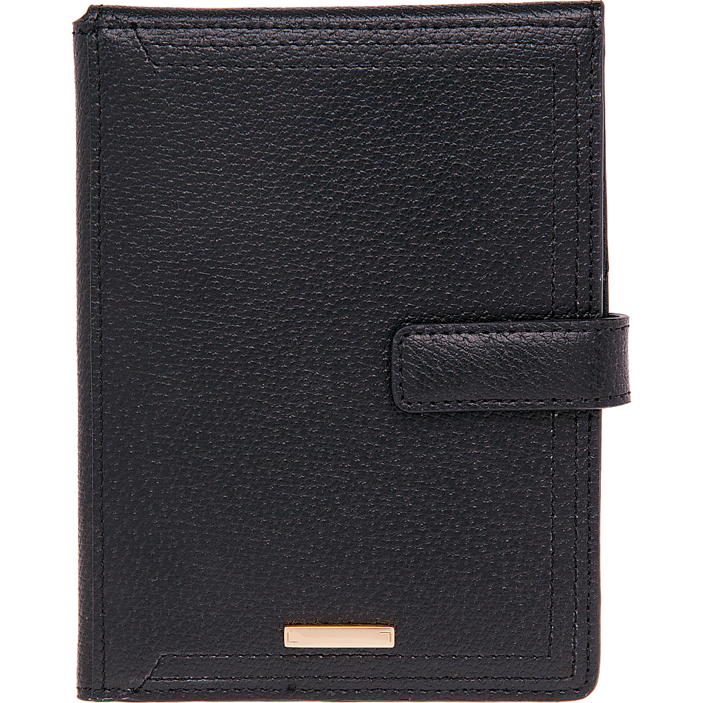 Lodis Stephanie RFID Passport Wallet Black Lodis Travel Wallets